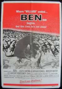 Ben 1972 movie poster Rat Willard Sequel