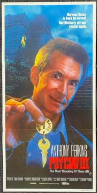 Psycho III Poster Original Daybill 1986 Anthony Perkins Norman Bates Horror