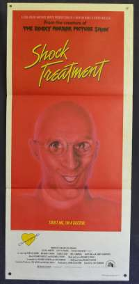 Shock Treatment Daybill Movie Poster Rocky Horror Picture Show Sequel