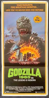 Godzilla 1985 The Legend Is Reborn 1985 Daybill movie poster Raymond Burr